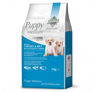 DNM PUPPY MEDIUM POLLO Y ARROZ