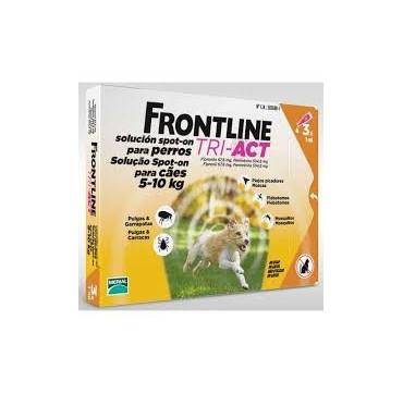 FRONTLINE TRI-ACT 5-10 KG 3 PIPETAS