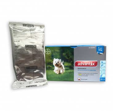 ADVANTIX 4X1ML.(4-10KGS.)4PIP.