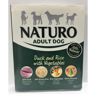 NATURO ADULT DUCK&RICE 400GRS.